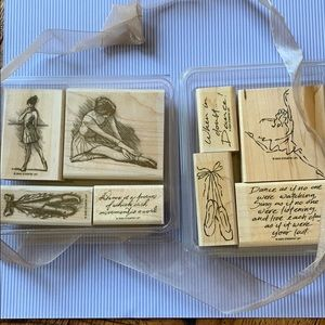 🩰TWO Ballet/Dance Stamp Sets ~ Stampin Up!
